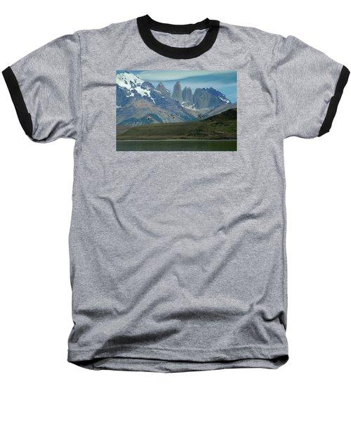 Flamingos Over Lago Nordenskjold Baseball T-Shirt