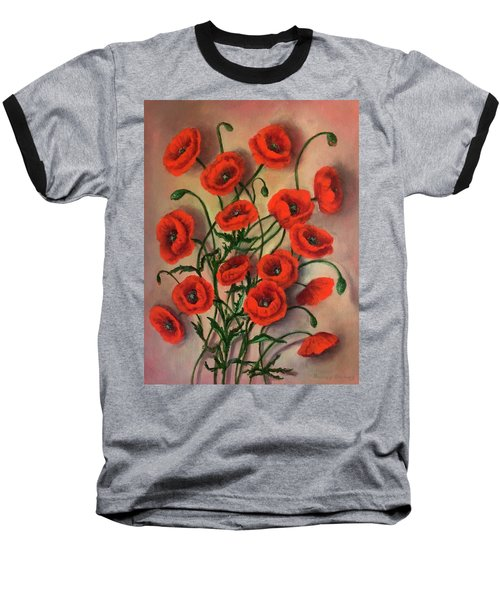 Flander Poppies Baseball T-Shirt