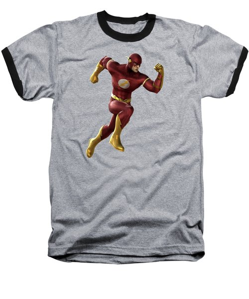 Baseball T-Shirt featuring the mixed media Flash Splash Super Hero Series by Movie Poster Prints