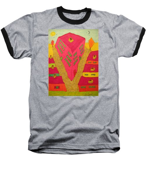 Flat Iron Bldg Baseball T-Shirt