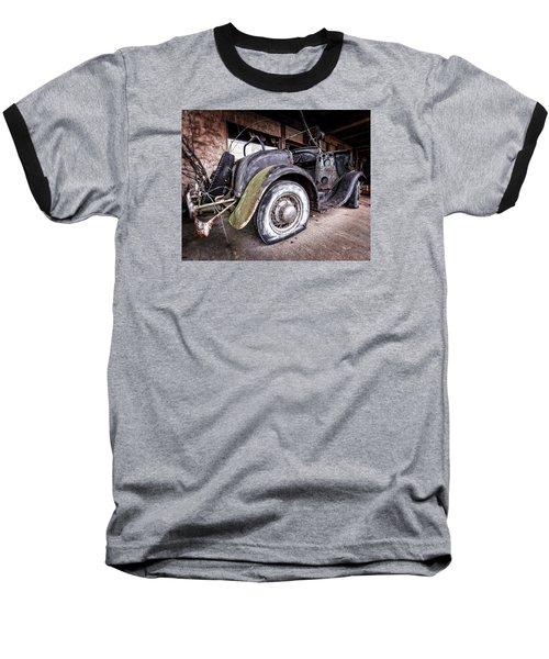 Flat Tire Baseball T-Shirt