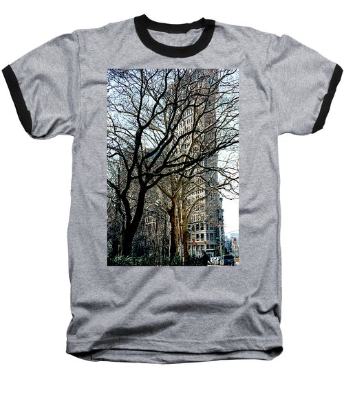 Flatiron Building Baseball T-Shirt
