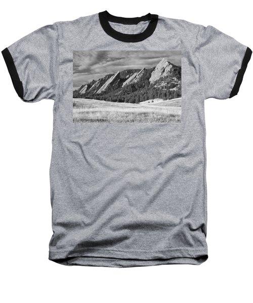 Flatiron Morning Light Boulder Colorado Bw Baseball T-Shirt
