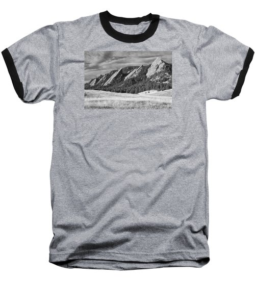 Flatiron Morning Light Boulder Colorado Bw Baseball T-Shirt