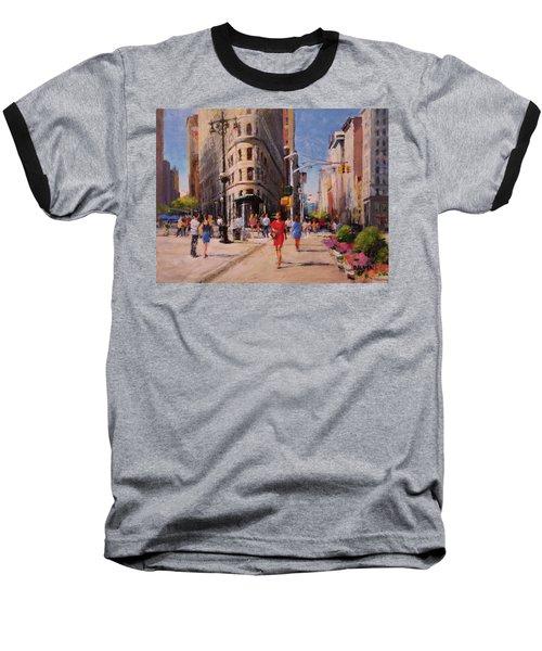 Flatiron Plaza, Summer Morning Baseball T-Shirt