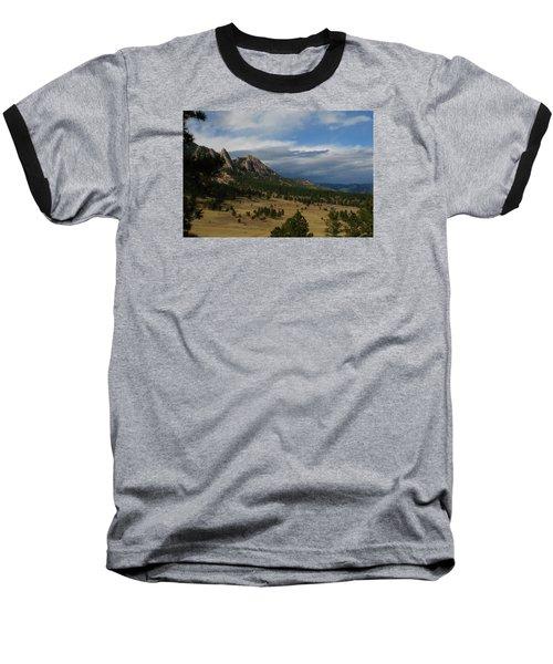 Flatirons, Boulder, Colorado Baseball T-Shirt by Christopher Kirby