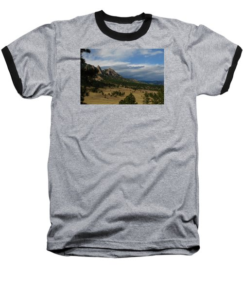 Flatirons, Boulder, Colorado Baseball T-Shirt