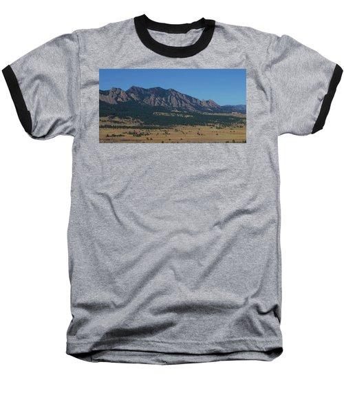 Flatirons Of Boulder Baseball T-Shirt