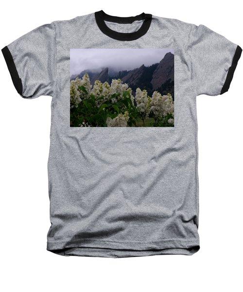 Flatirons White Lilacs Baseball T-Shirt