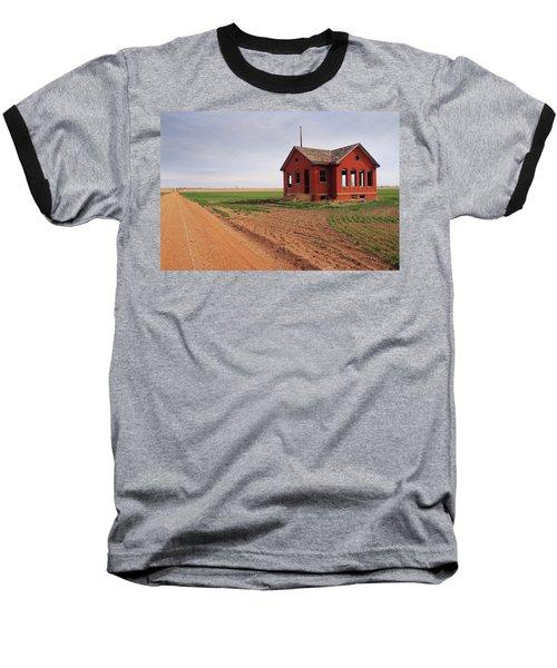Flatland Schoolhouse Baseball T-Shirt