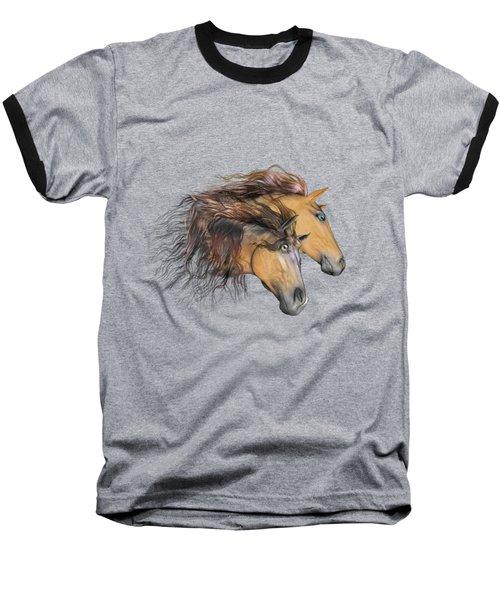 Flaxen Manes Baseball T-Shirt