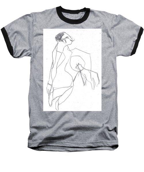 Fleeing Woman Baseball T-Shirt