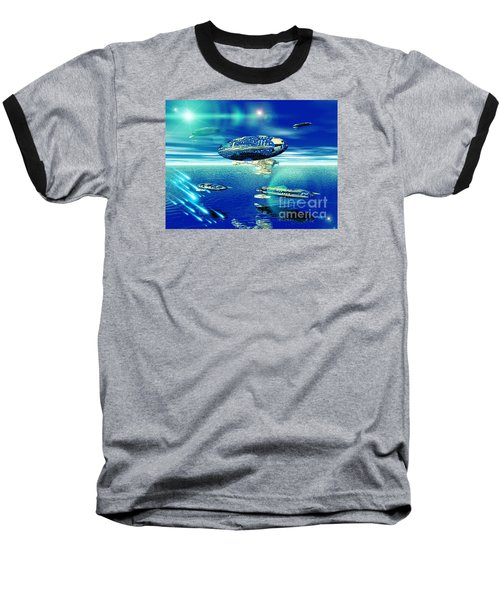 Fleet Aqua Baseball T-Shirt