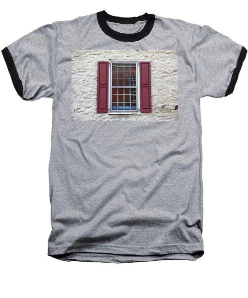 Baseball T-Shirt featuring the photograph Flemington, Nj - Side Shop Window by Frank Romeo