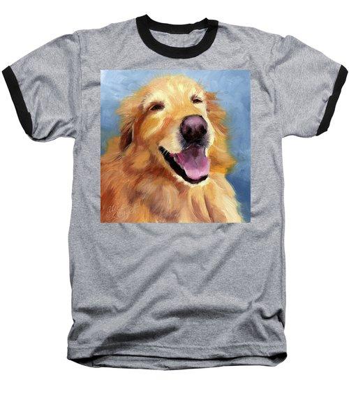 Fletcher Laughing Baseball T-Shirt by Alice Leggett