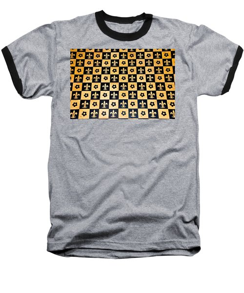 Fleur De Lis Floor Baseball T-Shirt by Eric Tressler