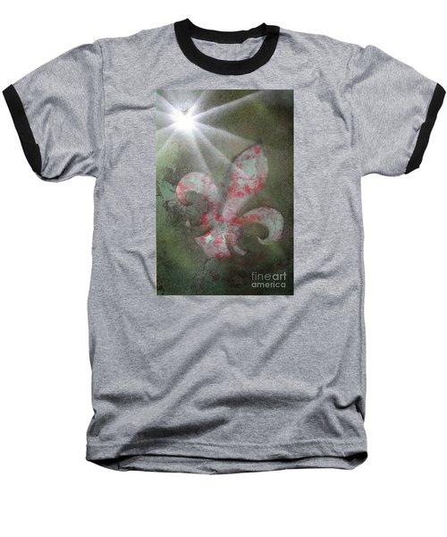 Fleur Di Lis Baseball T-Shirt by Tbone Oliver