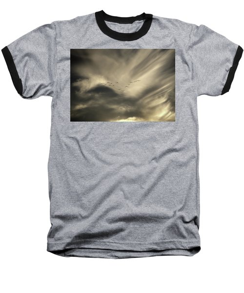 Baseball T-Shirt featuring the photograph Flight 016 Westbound by Robert Geary