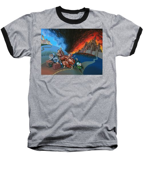 Flight Of Lot Out From Sodom Baseball T-Shirt