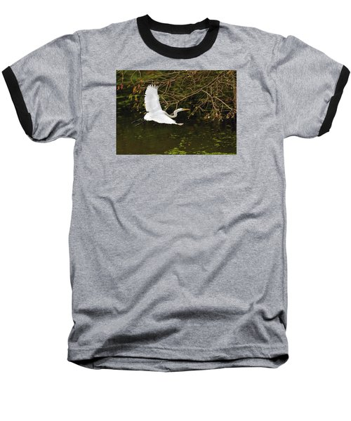 Flight Of The Egret Baseball T-Shirt