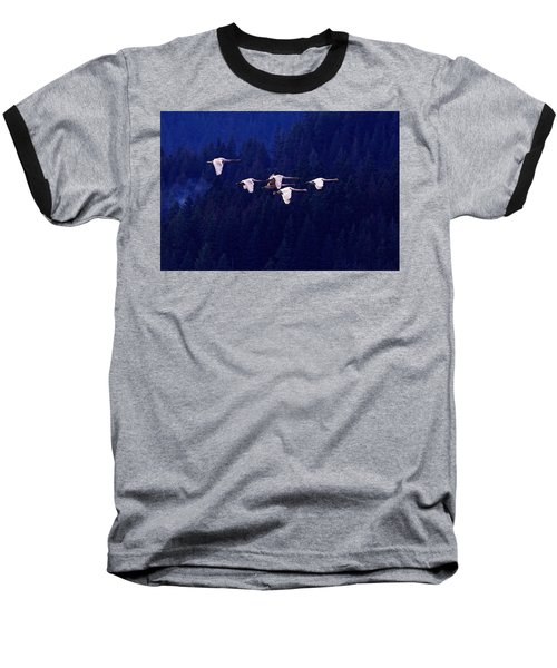 Flight Of The Swans Baseball T-Shirt