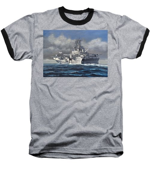 Baseball T-Shirt featuring the painting Flight Ops by Stephen Roberson