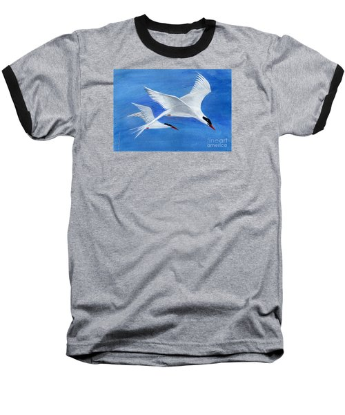 Flight - Painting Baseball T-Shirt by Veronica Rickard