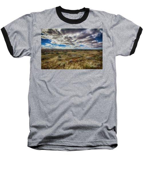 Flinders Ranges Fields  Baseball T-Shirt by Douglas Barnard