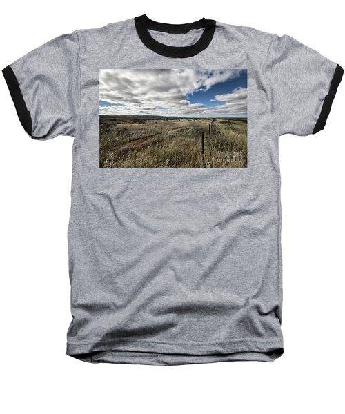 Flinders Ranges Fields V2 Baseball T-Shirt by Douglas Barnard