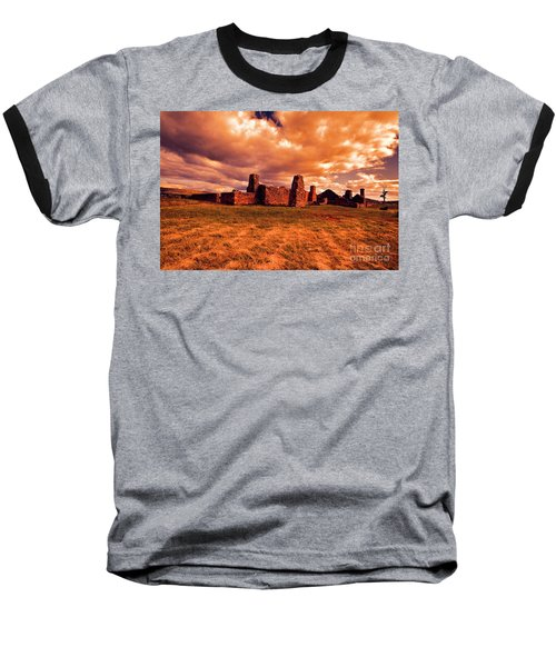 Baseball T-Shirt featuring the photograph Flinders Ranges Ruins by Douglas Barnard