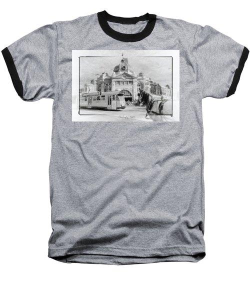 Flinders Street Station, Melbourne Baseball T-Shirt
