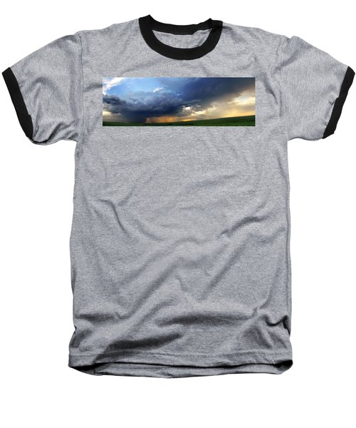 Flint Hills Storm Panorama 2 Baseball T-Shirt
