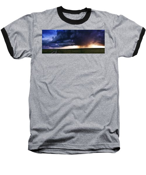 Flint Hills Storm Panorama  Baseball T-Shirt