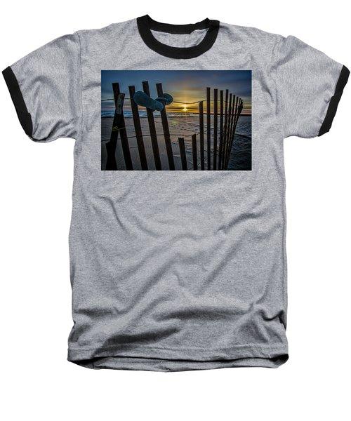 Flip Flops On A Beach At Sun Rise Baseball T-Shirt