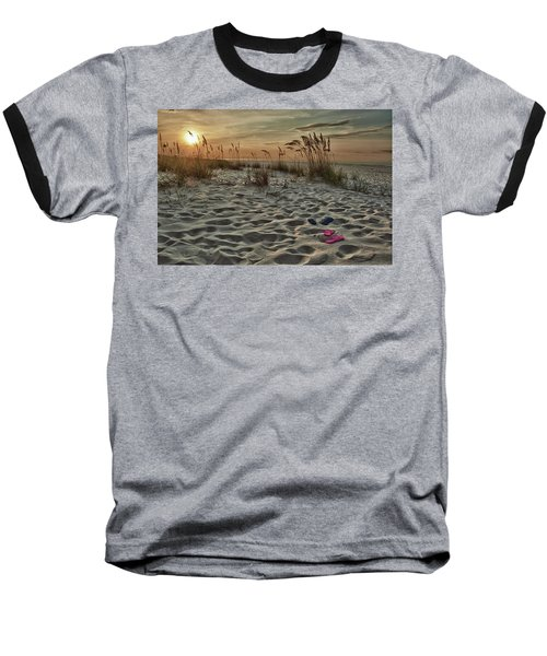 Flipflops On The Beach Baseball T-Shirt