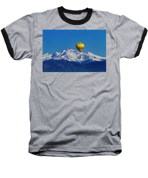Floating Above The Mountains Baseball T-Shirt by Teri Virbickis