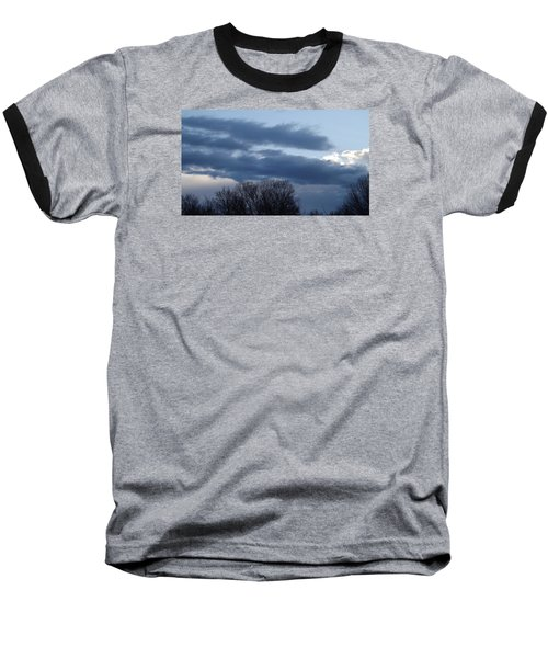 Baseball T-Shirt featuring the photograph Floating Blue Clouds by Don Koester