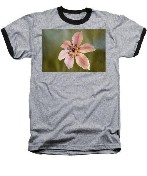 Floating Clematis Blossom Baseball T-Shirt