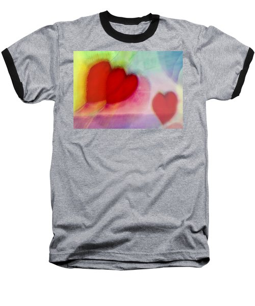 Floating Hearts Baseball T-Shirt