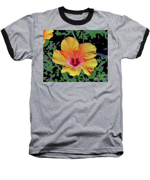Floating Hibiscus Baseball T-Shirt
