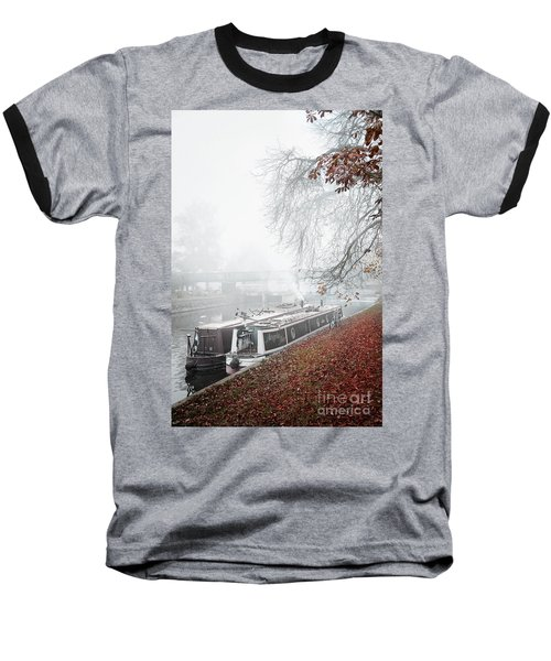 Floating Homes Of  River Cam Baseball T-Shirt by Eden Baed