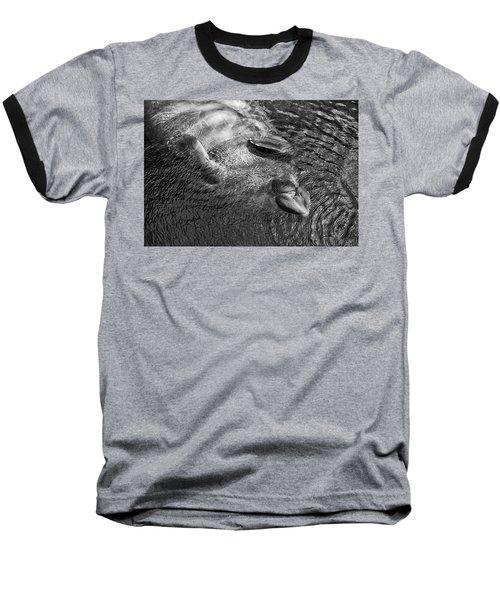 Floating Manatee Baseball T-Shirt