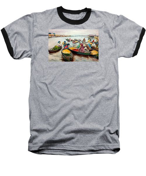Floating Market Baseball T-Shirt by Jason Sentuf