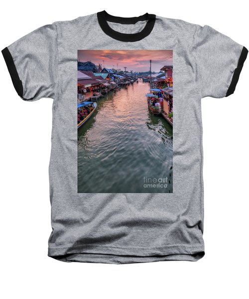 Floating Market Sunset Baseball T-Shirt