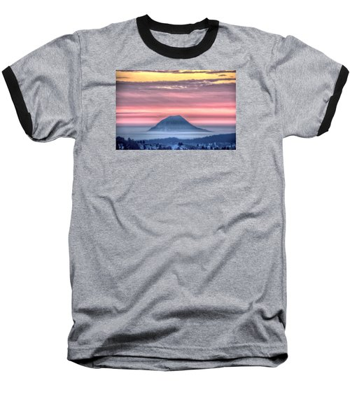 Floating Mountain Baseball T-Shirt by Fiskr Larsen