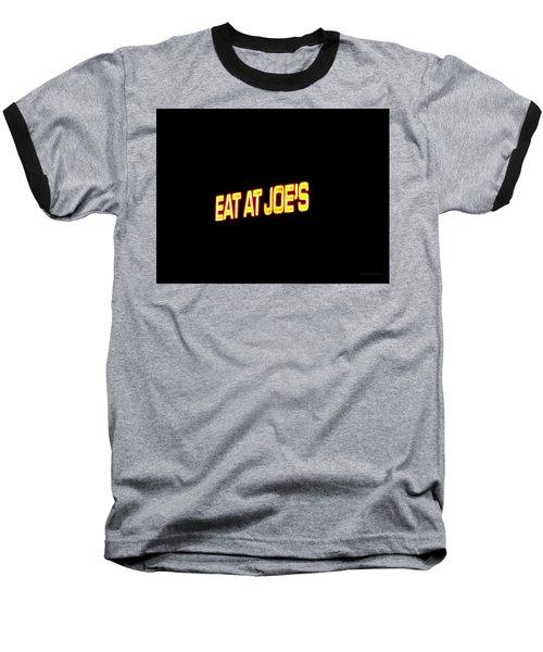 Floating Neon - Eat At Joes Baseball T-Shirt