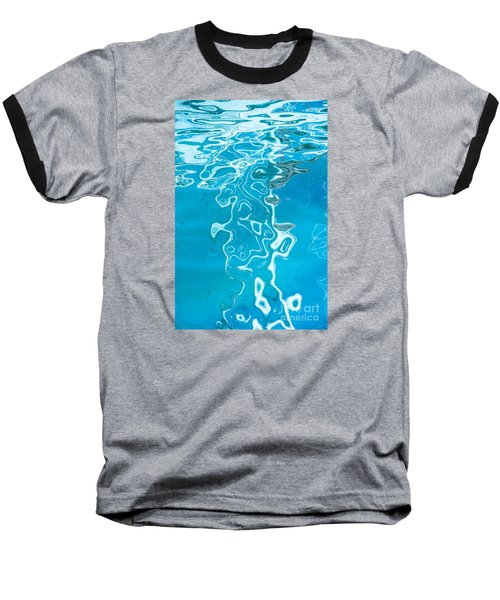 Floating On Blue 38 Baseball T-Shirt by Wendy Wilton
