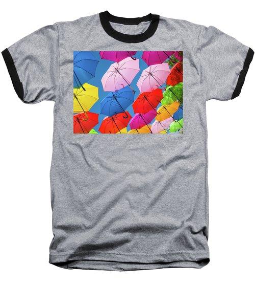 Floating Umbrellas Baseball T-Shirt