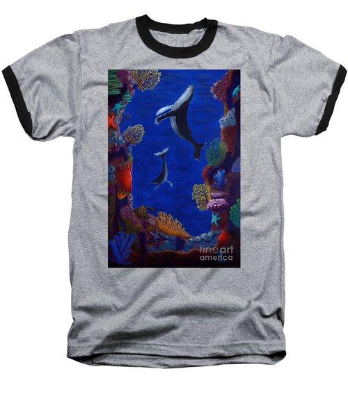 Floating Whales Baseball T-Shirt