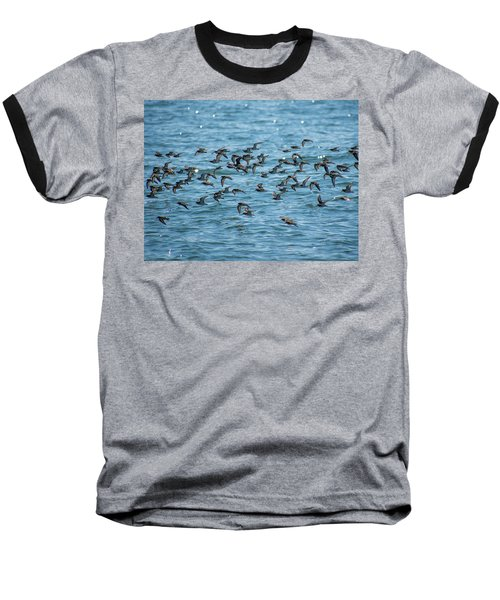 Baseball T-Shirt featuring the photograph Flock Of Birds by Trace Kittrell